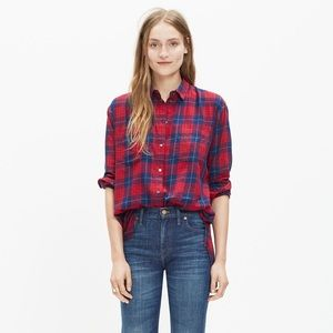 Madewell Oversized Boyshirt in Edina Plaid